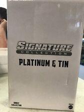 DC SIGNATURE COLLECTION METAL MEN PLATINUM & TIN ACTION FIGURE