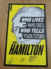 Lin Miranda HAMILTON off-Broadway WINDOW CARD Public Theater signed Groff, Diggs