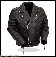 Blouson perfecto en cuir souple  ~  Grande Taille M à 3XL ~ biker harley custom