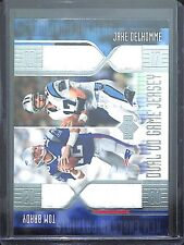 2004 Upper Deck Football Dual UD Jersey #BD-2J Tom Brady and Jake Delhomme