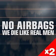 2 x NO AIRBAGS funny 4x4 offroad ute Car Sticker 200mm