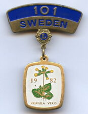Sweden Swedish 101 Lions Club 1982 Vintage Badge Pin Nice Grade !!!