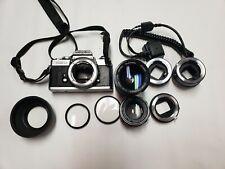 Vintage Minolta Xd-11 35mm Slr Film Camera bundle w/2 Lenses & Accessories