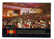 ^^  HARRAH'S CASINO 1960s  ^^ Postcard  SOUTH SHORE ROOM  ==  Lake Tahoe Nv.