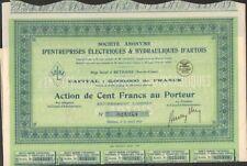 ENTREPRISES ÉLECTRIQUES & HYDRAULIQUES d'ARTOIS (BÉTHUNE 62) (U)