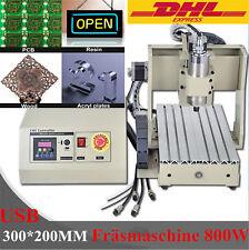 CNC Router Graviermaschine FräSmaschine USB 4 Achse 3020 Holzschneider Carving