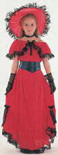 Childrens Scarlet O'hara Fancy Dress Costume Gone With The Wind Outfit L
