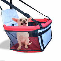 Dog Puppy Car Seat Cover Pet Cat Bag Carrier Booster Basket Travel Bed