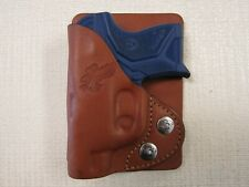 Ruger Lcp ll wallet & pocket holster, formed BROWN leather right hand