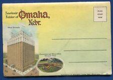 Omaha Nebraska ne Livestock Exchange Stock Yards hanscom Park postcard folder