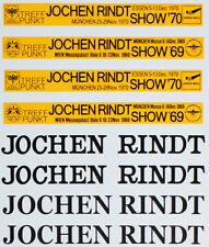 1/8 JOCHEN RINDT SHOW 69 70 YELLOW TAPE DECAL LOTUS 72C ENTEX EIDAI BBK TRANSKIT