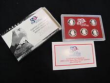 Complete 2008 Silver US Proof Statehood Quarter Set 5 Coins, w/ Box & COA