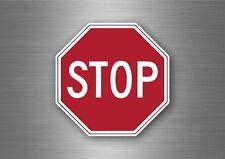 Sticker car biker motorcycle stop sign vinyl symbol usa road sign way