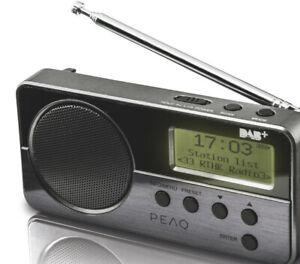 PEAQ PDR050-B Digitalradio, DAB+, FM, Schwarz *NEU/OVP*
