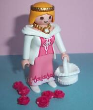 Playmobil -  Victorian Dollshouse/Palace-Lady with White Basket & Flowers -  NEW