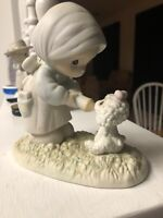 """Precious Moments Figurine """"Feed my Sheep"""" PM-871 Members only Series 1987 Enesco"""