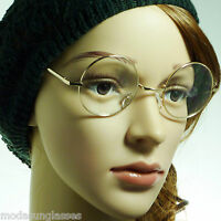RETRO Round Oversized Metal Unisex Frame Eyewear Circle Clear Lens Eye Glasses