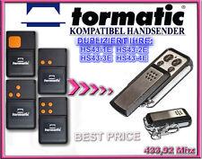TORMATIC HS43-1E, HS43-2E,HS43-3E,HS43-4E kompatibel handsender, KLONE 433,92Mhz