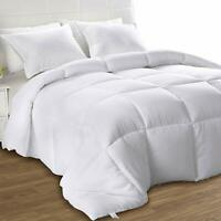 Comforter Down Alternative  White All Season Duvet Stitched In Box Style