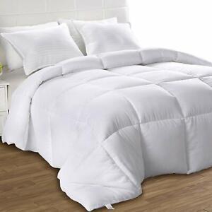 All Season Comforter Down Alternative White Duvet Stitched Utopia Bedding
