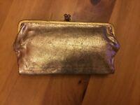 Gold Ravel Clutch Bag/ wallet