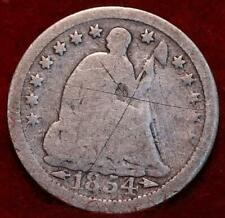 1854 Philadelphia Mint Silver Seated Liberty Half Dime with Arrows