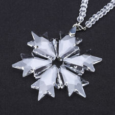 2018 Annual Crystal Snowflake Ornament Clear Hanging Christmas Tree Decor Gift