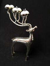 """12"""" Goldinger Silver Toned Reindeer 6 cup Antler Candle Holder"""