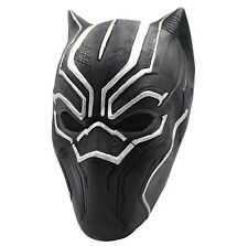 Black Panther Mask Marvel Superhero Cosplay Latex Party Mask Carnival Props