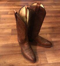 Vintage J Chisholm Men's Cowboy Boots 8 D