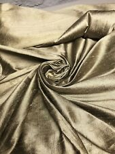 "Gold 100% Dupioni Silk  Fabric 54"" Wide Sold By The Yard"