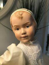 """16"""" Schoenhut REPRODUCTION bonnet head doll antiqued original box"""