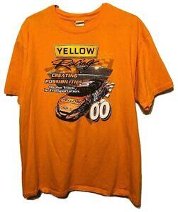 NASCAR Yellow Racing #00 Creating Possibilities Theme Orange T-Shirt Size XL