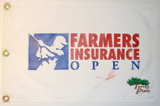 JON RAHM - 1ST WIN -  Signed - FARMERS INSURANCE OPEN - Golf Flag