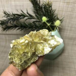 Top Rare Natural Quartz Lepidolite Yellow Mica Crystal Specimen 44g A9021