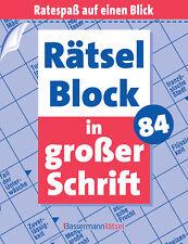 Rätselblock in großer Schrift 84 von Eberhard Krüger (22.10.2018,PB)