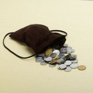 Money Bag Drawstring Coin Wallet Bag Poket Vintage Medieval Pagan Reenactment