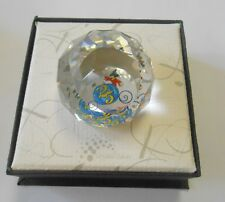 Swarovski Crystal 1997 Walt Disney World Mickey 25th Anniversary Paperweight Box