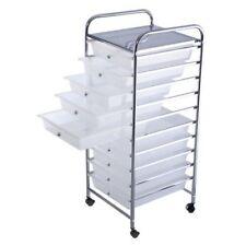 10 Drawer Rolling Storage Cart Scrapbook Paper Office School Organizer Drawers