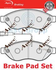 Apec Vorne Brems Scheiben Satz OE Qualität Ersatzteil mit Blinker Pad1858