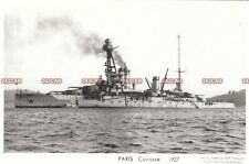 "French Navy RP Postcard. ""Paris"" Battleship. Reconfigured! Fine! 1927"