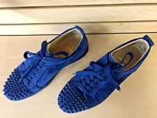Christian Louboutin Louis Junior Spikes Orlato Flat Suede atlantic blue 43 size