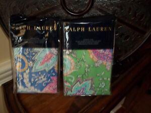 NIP Ralph Lauren Flying Point Paisley Euro Pillow Shams Pair