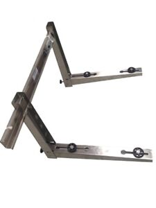 AC SPLIT SYSTEM STAINLESS STEEL WALL BRACKET 3PC SUPPORTS 250KG 550MM - HC-A023C