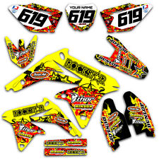 2007 2008 2009 RMZ 250 GRAPHICS KIT SUZUKI RMZ250 DECO DECALS STICKERS MOTOCROSS