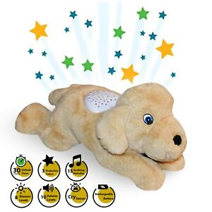 Plush Baby Sleep Soother Dog With Star Projector And Cry Sensor Rechargeable