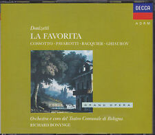 Donizetti 3 CD *La Favorita* Pavarotti, Ghiaurov, Bonynge/Decca, Made in Germany
