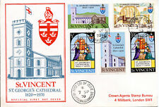 ST VINCENT 1970 St George's Cathedral  set  FDC  #303-307