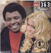 """WESS & DORI GHEZZI - Un corpo e un'anima - VINYL 7"""" 45 LP 1974 VG+/VG- CONDITION"""