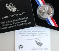 2015 D US Marshals Service 225th Anniversary Uncirculated Half Dollar 50c Coin